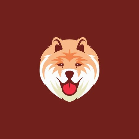 chow chow dog logo vector icon illustration Illustration