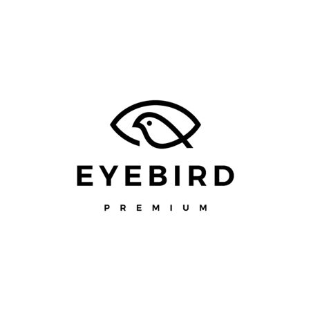 eye bird logo vector icon illustration Illusztráció