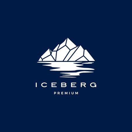 iceberg logo geometric line outline monoline illustration Illustration