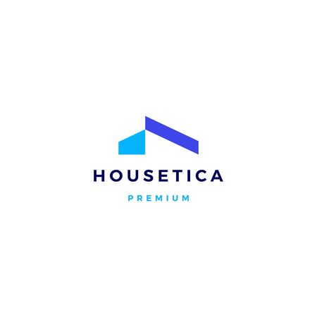 house home mortgage roof architect logo vector icon illustration Illustration