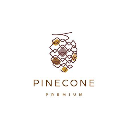 pine cone conifer logo vector icon illustration Logo