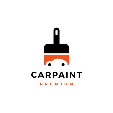 car paint logo vector icon illustration  イラスト・ベクター素材