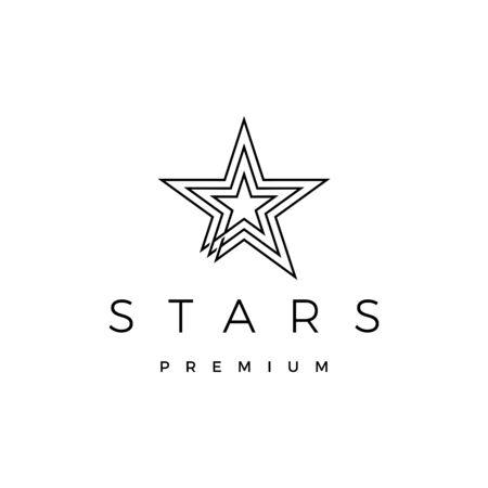 stars logo vector icon illustration