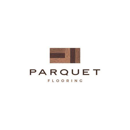 wood parquet flooring vinyl hardwood granite tile logo vector icon illustration Illustration