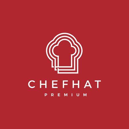 chef hat logo vector icon illustration