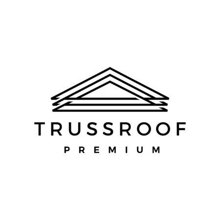 truss roof logo vector icon illustration
