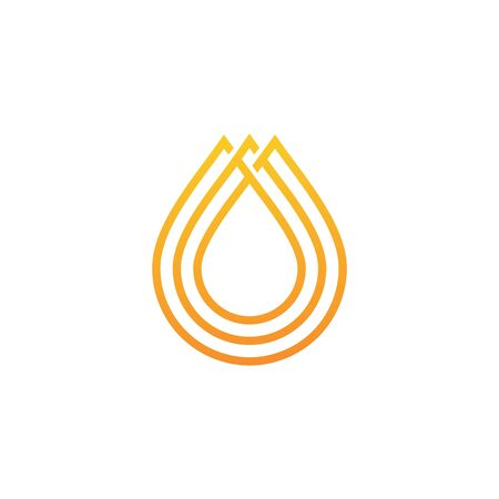 oil honey drop logo vector icon illustration