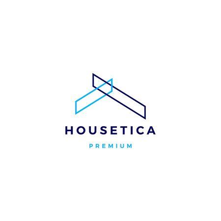 Maison maison hypothèque toit architecte logo icône vector illustration