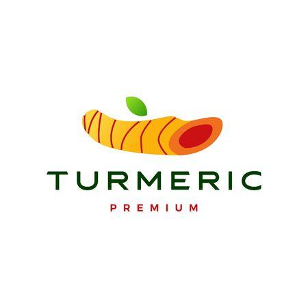 Kurkuma-Logo-Vektor-Symbol-Illustration