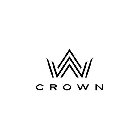 crown logo vector icon illustration