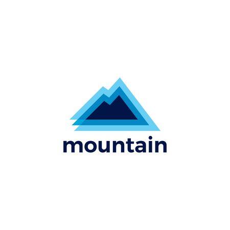 mountain logo vector icon illustration Vectores