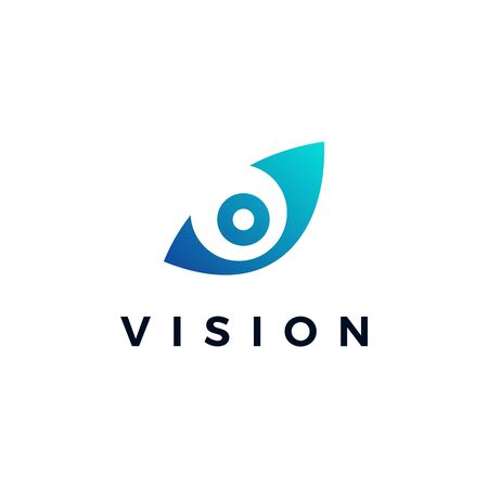 vision eye logo vector icon illustration