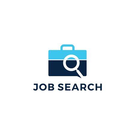 job search logo vector icon illustration