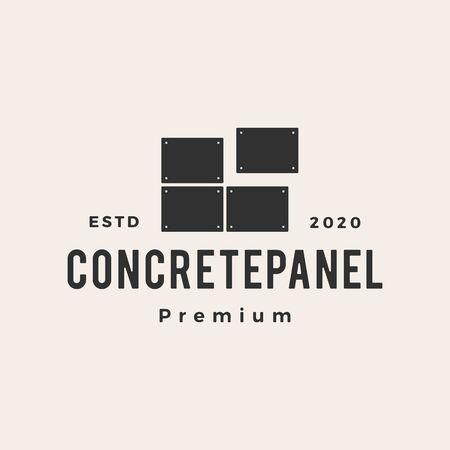 concrete panel hipster vintage logo vector icon illustration