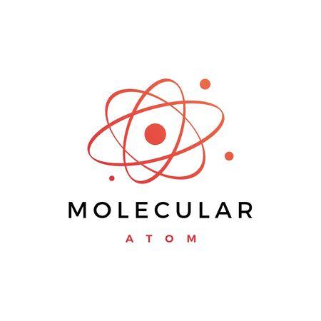 atom molecular logo vector icon illustration Illusztráció