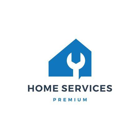 home house service logo vector icon illustration