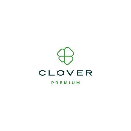 clover leaf logo vector icon illustration
