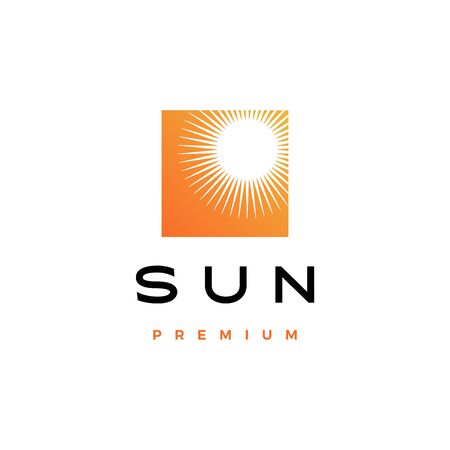 sun logo vector icon illustration