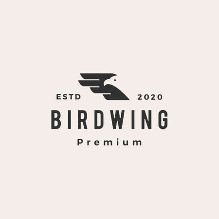 bird wing hipster vintage vector icon illustration