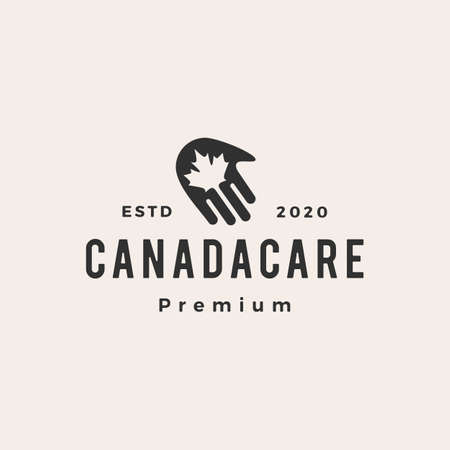 hand canada care hipster vintage vector icon illustration