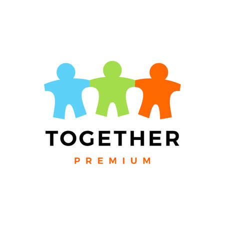 people family together human paper kids vector icon illustration 일러스트