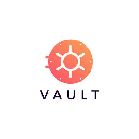vault locker logo vector icon illustration 向量圖像