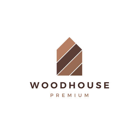 wood house timber panel wall facade decking wpc vinyl hpl logo vector icon illustration