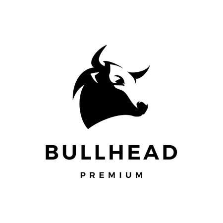 bull head logo vector icon illustration Çizim