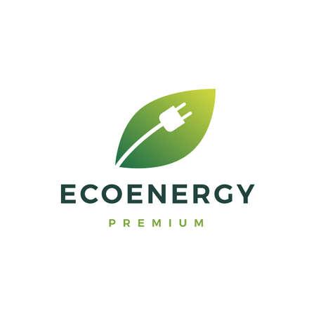 eco energy logo vector icon illustration Illusztráció