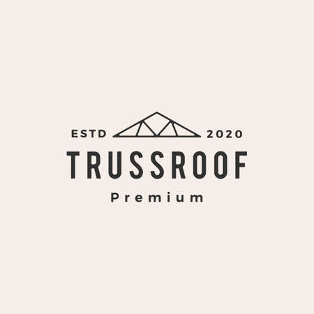 truss roof hipster vintage logo vector icon illustration