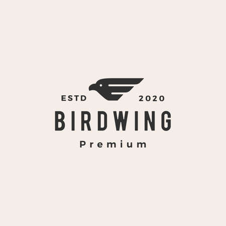 bird wing hipster vintage logo vector icon illustration