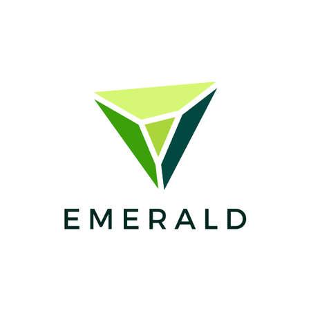 emerald gem logo vector icon illustration