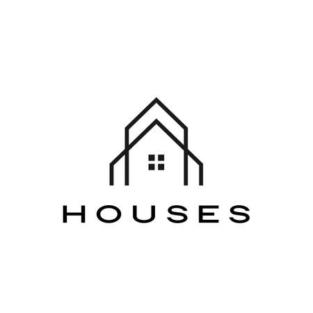house home mortgage roof architect logo vector icon illustration 일러스트
