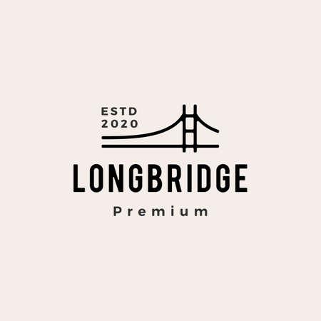 bridge hipster vintage logo vector icon illustration