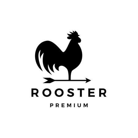 rooster arrow weathervane logo vector icon illustration Illusztráció