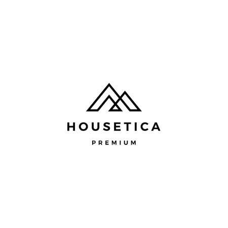 house home mortgage roof architect logo vector icon illustration Logo