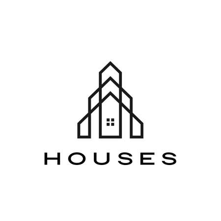 house home mortgage roof architect logo vector icon illustration