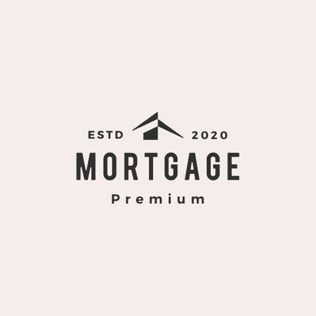 house home mortgage roof architect hipster vintage logo vector icon illustration