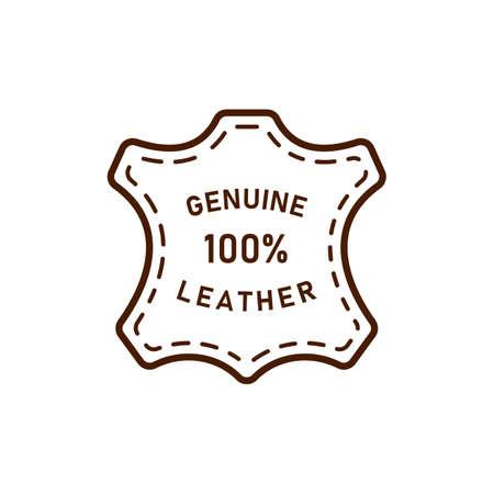 100 percent genuine leather logo vector icon illustration
