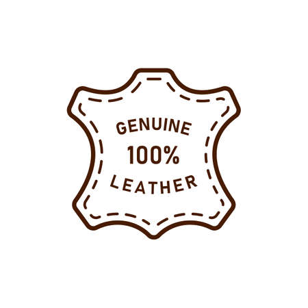 100 percent genuine leather logo vector icon illustration