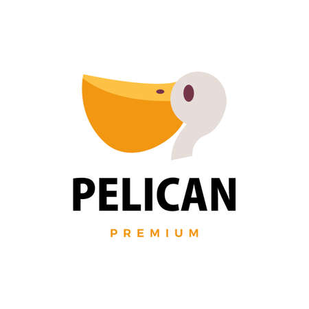 pelican flat logo vector icon illustration 向量圖像