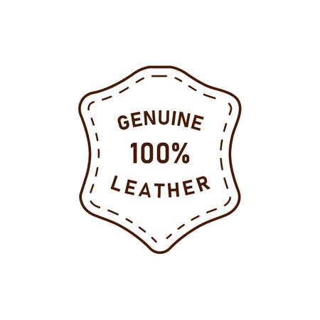 100 percent genuine leather  vector icon illustration