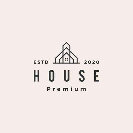 house home mortgage roof architect hipster vintage logo vector icon illustration Logo