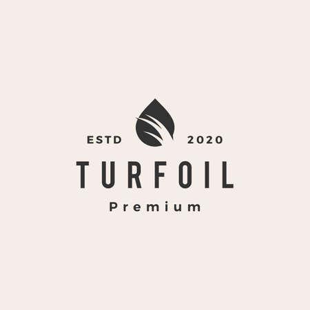 turf oil hipster vintage logo vector icon illustration