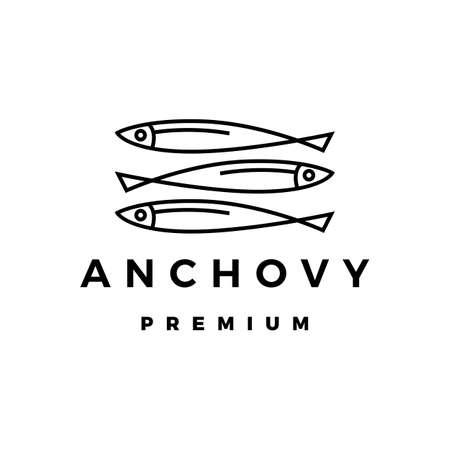 anchovy logo vector icon illustration 向量圖像