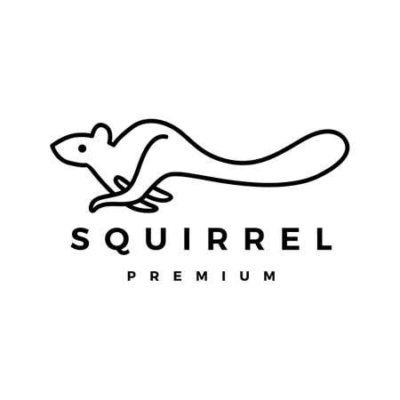 squirrel logo vector icon illustration