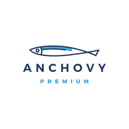 anchovy logo vector icon illustration Vettoriali