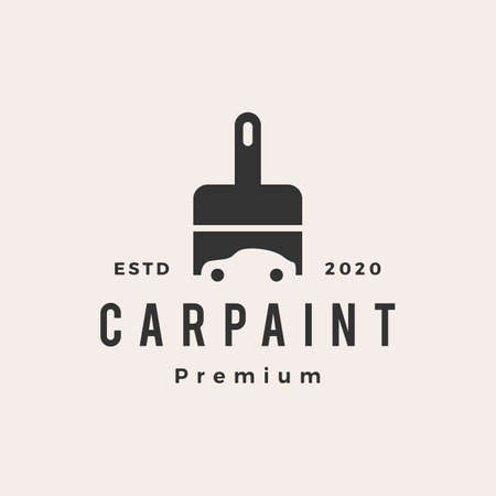 car paint hipster vintage logo vector icon illustration