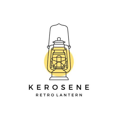 kerosene retro lantern logo vector icon illustration