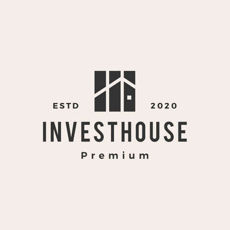 property investment house hipster vintage logo vector icon illustration